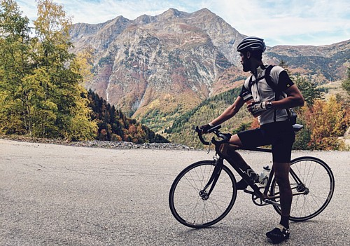 Rob's epic fixed wheel Alp trip