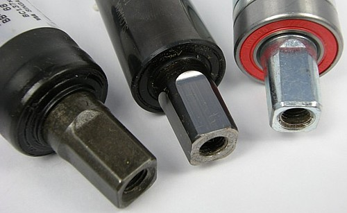 various bottom brackets have different tapers